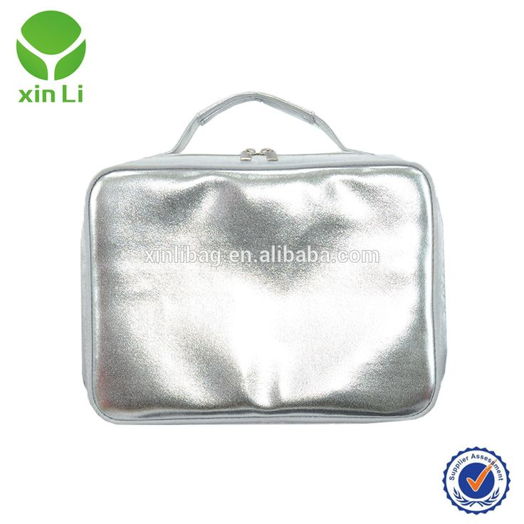 Silver white pvc covered insualted drink cooler insulated picnic bag