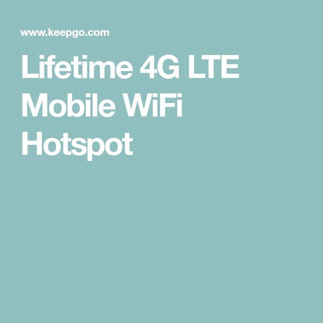 Lifetime 4G LTE Mobile WiFi Hotspot