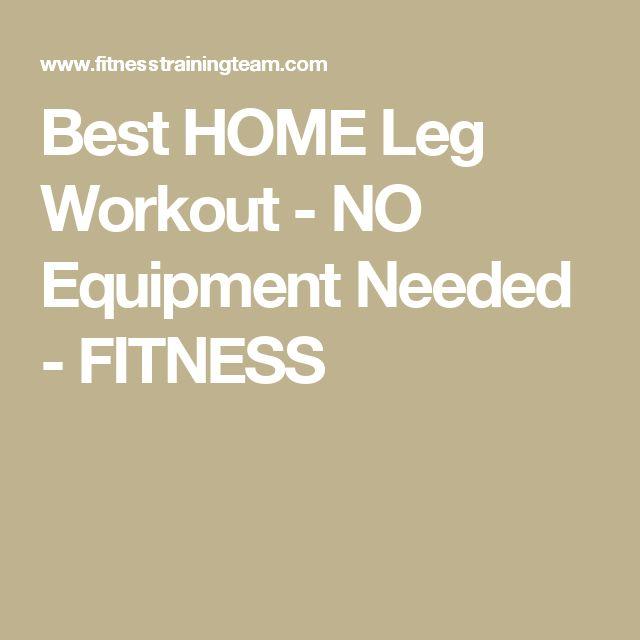 Best HOME Leg Workout - NO Equipment Needed - FITNESS