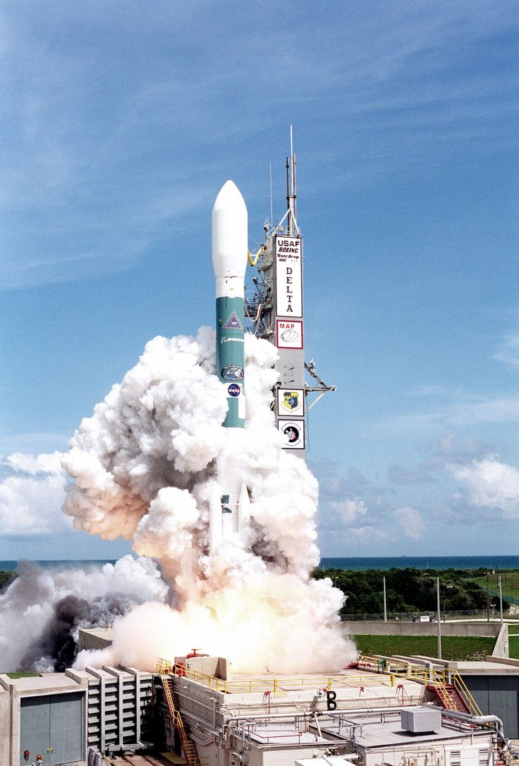 On June 30 2001 the Microwave Anisotropy Probe (MAP) spacecraft launched on a Boeing Delta II rocket from Cape Canaveral. The probe measured small fluctuations in the temperature of the cosmic microwave background (CMB) and created the most accurate full-sky map of the CMB. [2033 x 3000]