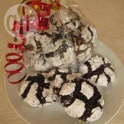 Foto recept: Chocolade sneeuwbal koekjes