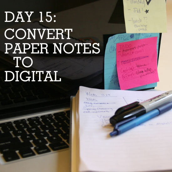 How to convert paper notes to digital (and avoid clutter)