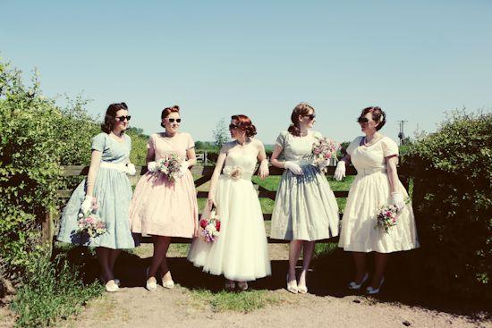 Real Wedding: 1950′s Vintage Tea Party – Sophie & Gareth #vintagewedding
