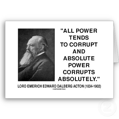 Lord Acton All Power Corrupts Absolute Power Quote Cards