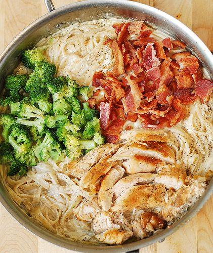 Creamy Broccoli, Chicken, and Bacon Pasta Recipe