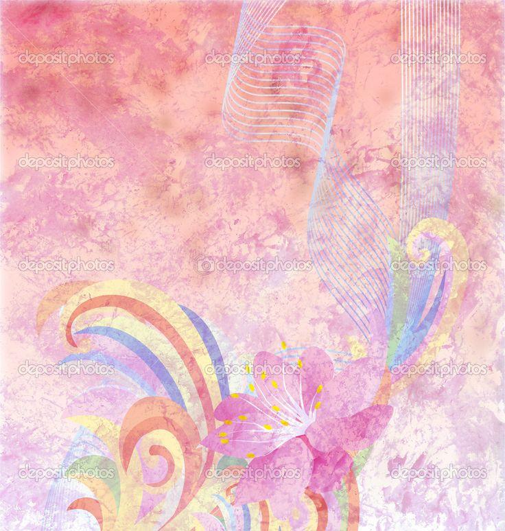 Vintage Pink   Abstract pink flower background grunge retro vintage pa[er textu ...