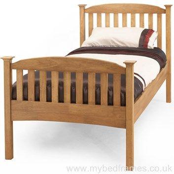 eleanor high honey oak bed frame - High Bed Frames