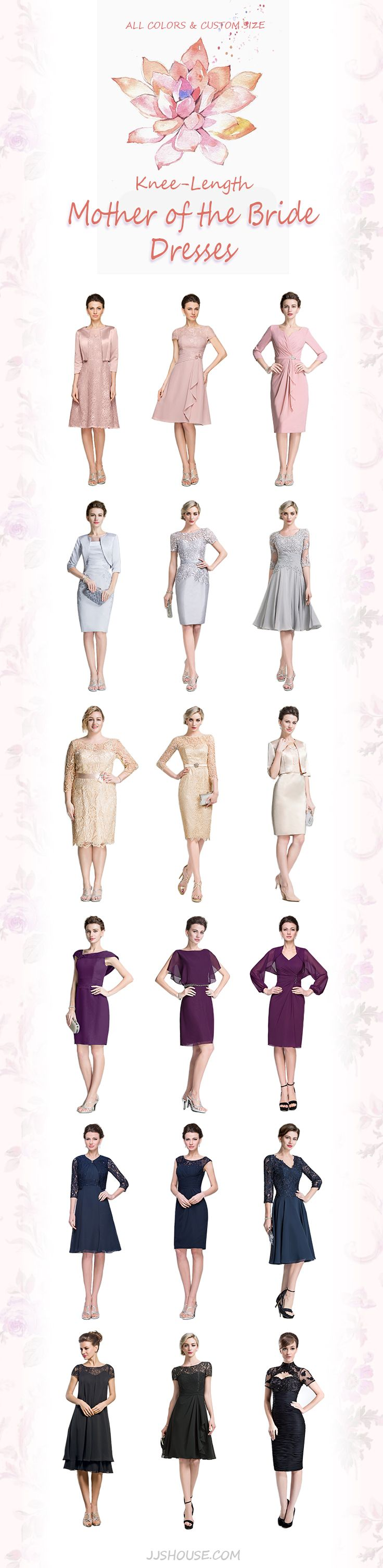 Knee-Length Mother of the Bride Dresses           ALL COLORS & CUSTOM SIZE # motheroftheBridedresses