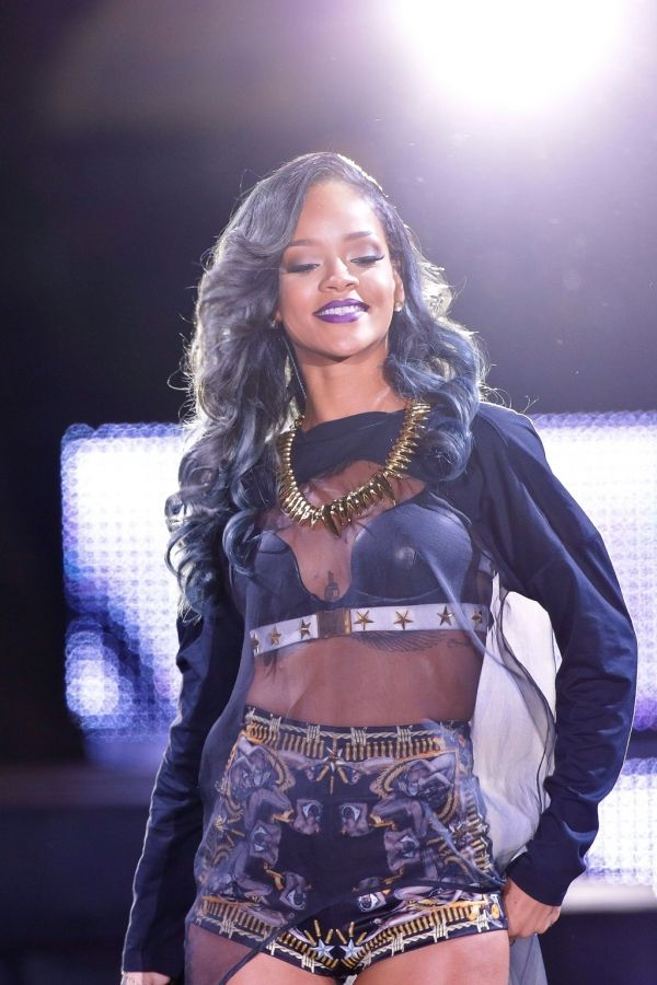 Rihanna ~ I want this lipstick!  My favorite outfit on her! Love this! :)