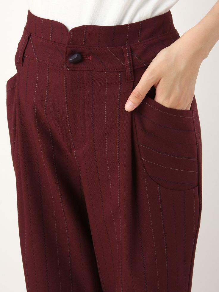 Striped Wrapping Waist Tapered Pants | Jocomomola de Sybilla | Outlet Mail Order (Outlet Online Shop) | [Official Itkin Outlet