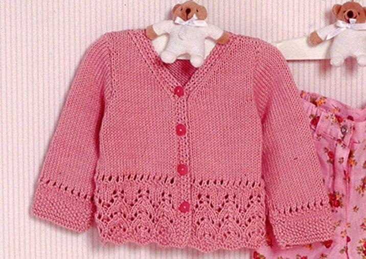 Precious Emilia Baby Lace Cardigan [FREE Knitting Pattern]