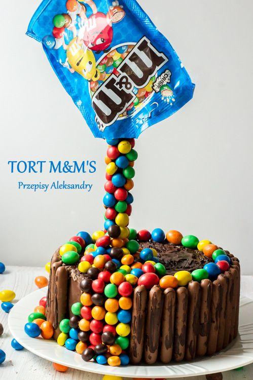 Magic 3D cake with m&m's. Photo tutorial / Tort 3D z m&m's. Instrukcja ze zdjęciami krok po kroku