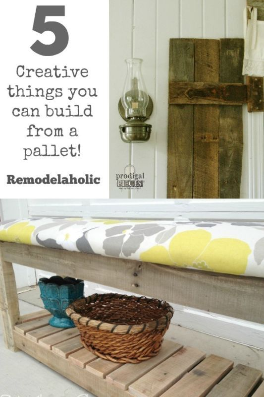 5 creative things you can build from a pallet creative for Things to do with pallets