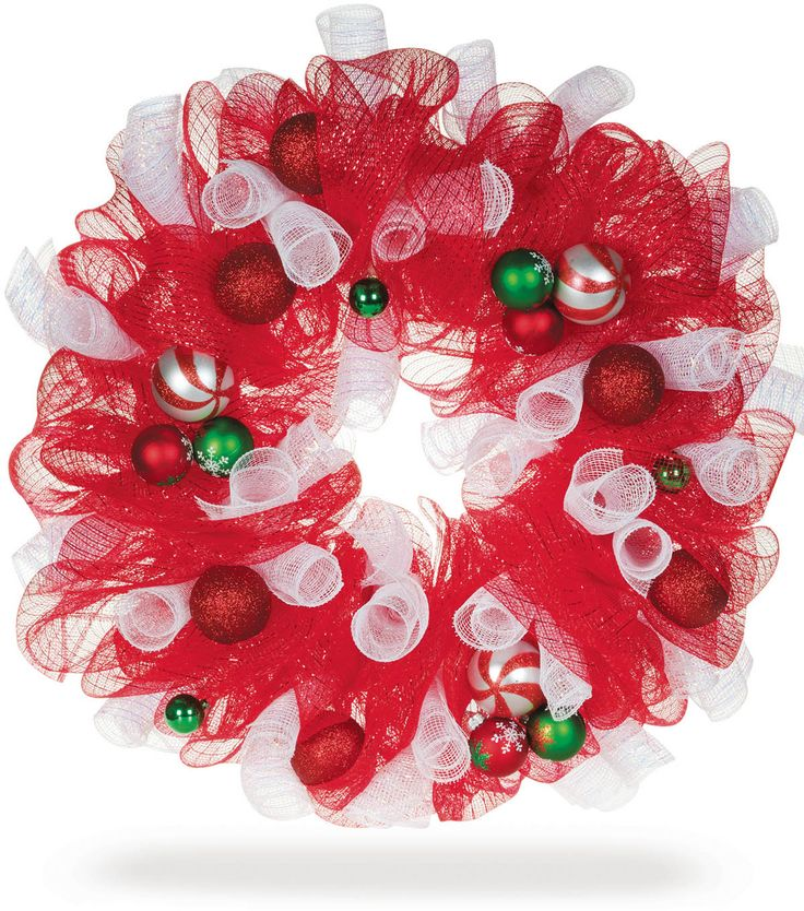 How to make a Decorative Mesh Holiday Wreath with deco mesh. Click through for full directions on Joann.com