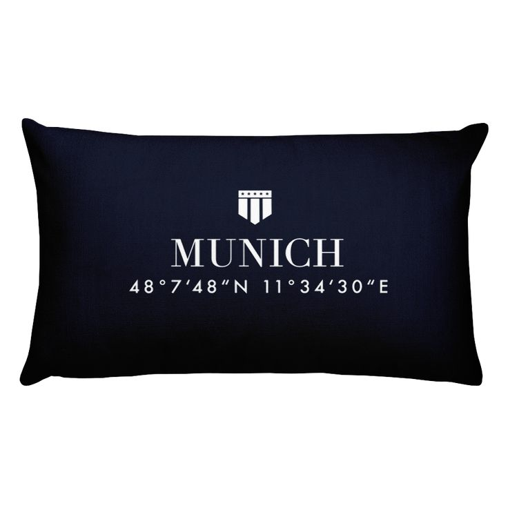 Munich Germany Pillow with Coordinates