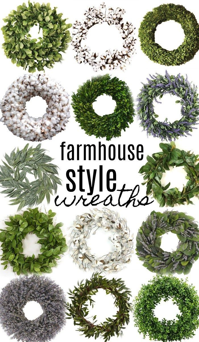 Shop all the wreaths above with my affiliate links: southern magnolia wreath [HERE] lemon leaf wreath [HERE]small magnolia leaf wreath [HERE] preserved boxwood wreath [HERE] Solid cotton wr…