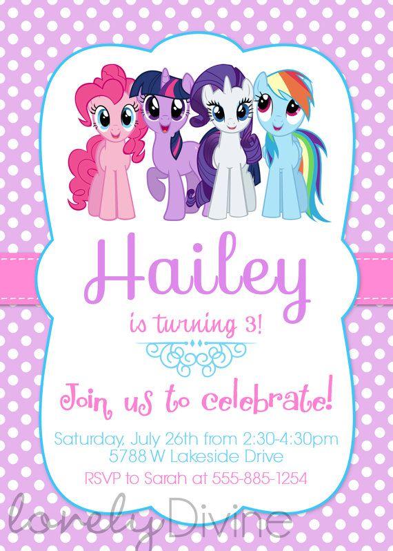 Mi pequeño Pony invitación mi pequeño Pony por LovelyDivine9