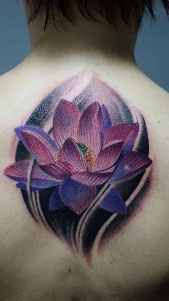 Tatuajes De Flores De Loto Por Partes Del Cuerpo Ink