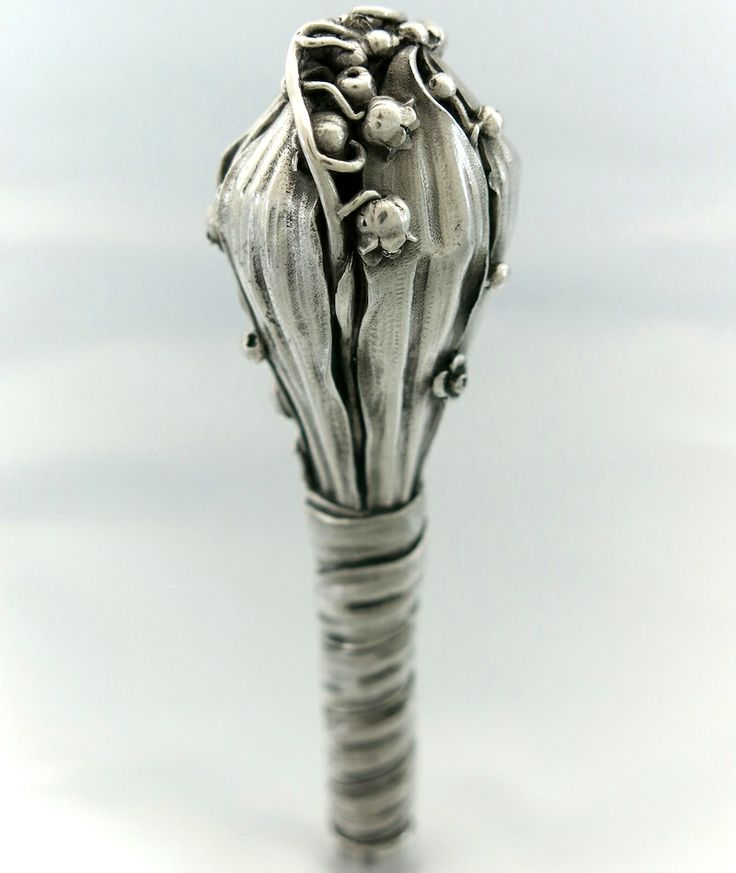 Antique French Silver Walking Stick Handle, c1900