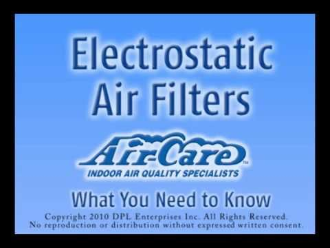 Electrostatic air filter cleaning