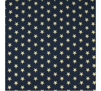 Bavlna modrá, zlaté hvězdy š.145