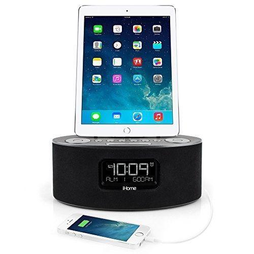 iHome iDL46 Lightning Dock Clock Radio and USB Charge/Play for iPad/iPod and - http://electronics.goshoppins.com/portable-audio-headphones/ihome-idl46-lightning-dock-clock-radio-and-usb-chargeplay-for-ipadipod-and/