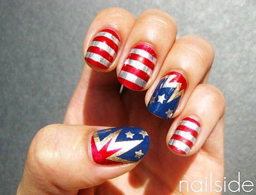 15+ American Flag Nageldesign & Ideen bis 2017 | 4. Juli Nägel - Nageldesign - Best 25+ Flag Nails Ideas On Pinterest American Flag Nails