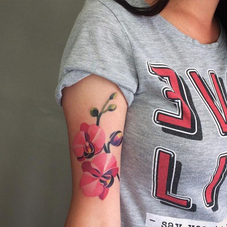 orchid tattoo - Sasha Unisex