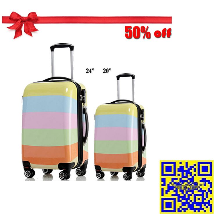 The 2015 largest discount! 12.16—12.31 Christmas sales! All luggage suitcases in E-bay American site with 50% off! Don't miss it!! http://stores.ebay.com/shxq2015 http://www.ebay.com/itm/Luggage-Suitcase-Candy-Stripe-Spinner-Wheels-Hardside-Luggage-20-24-Inches-/252181671238?