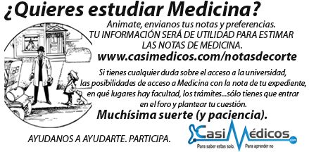 Notas de corte de Medicina, curso 2015/2016