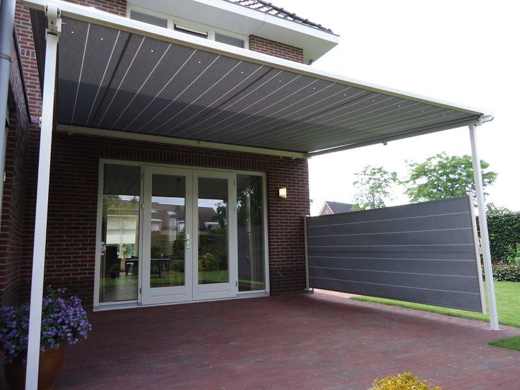 Pergolino zonwering met windscherm van stobag geleverd door deco zonwering uit heesch buiten - Buiten terras model ...