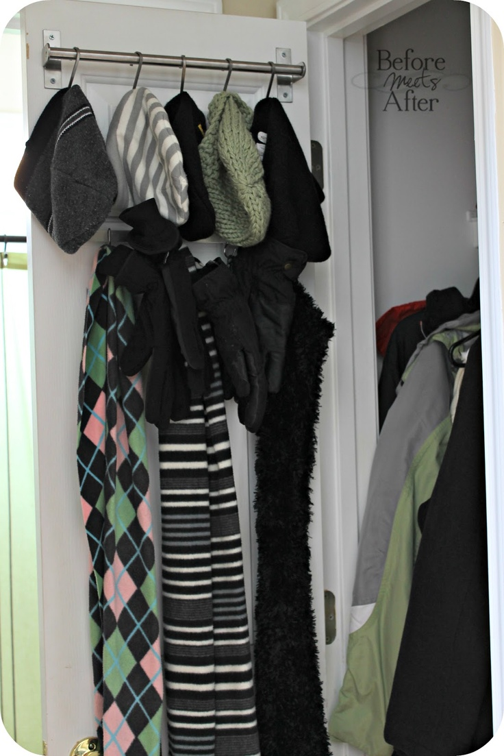 Before Meets After: hall closet organization