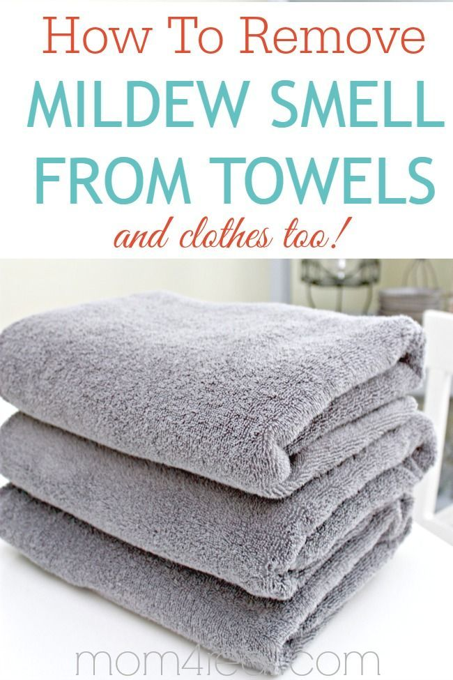 How To Remove Mildew Smell From Towels And Clothes Tips