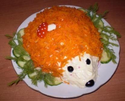 Рецепт - Салат «Ежик»