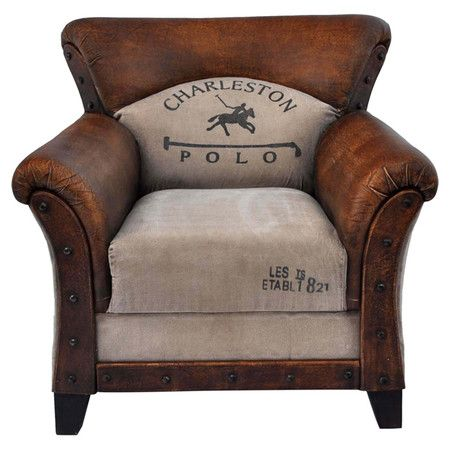 Charleston Polo Leather Arm Chair