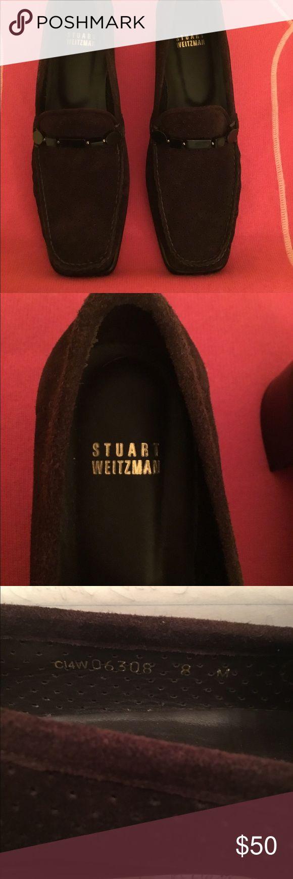 New Stuart Weizmann Brown Suede Loafers NWOT Stuart Weitzman Brown Suede Loafers. 1/2 inch Block Heel. Size 8 Stuart Weitzman Shoes Flats & Loafers