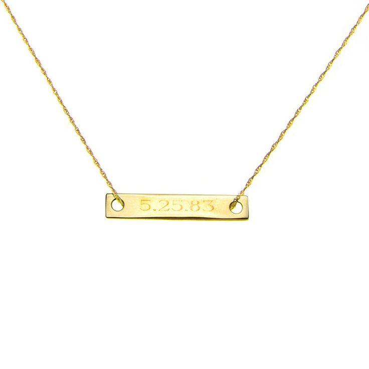 For special dates!Birthday, Monograms Necklaces, Minis Baguette, Gold Bracelets, Baguette Necklaces, Bar Necklaces, Minis Monograms, Ginette Ni Minis, Monograms Baguette