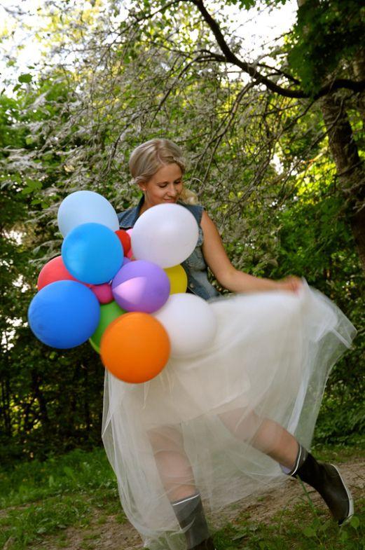 Tulle skirt#balloons#girl#summer