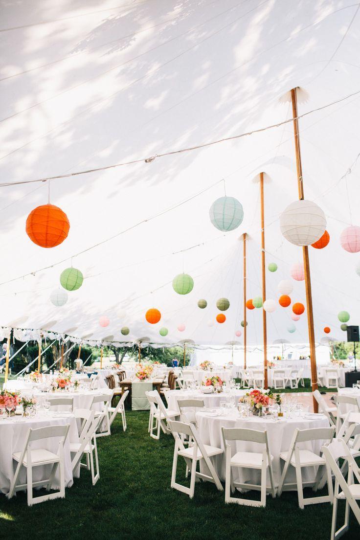 Garden wedding reception #outdoorwedding #weddingdecor #lanterns #reception  #gardenwedding