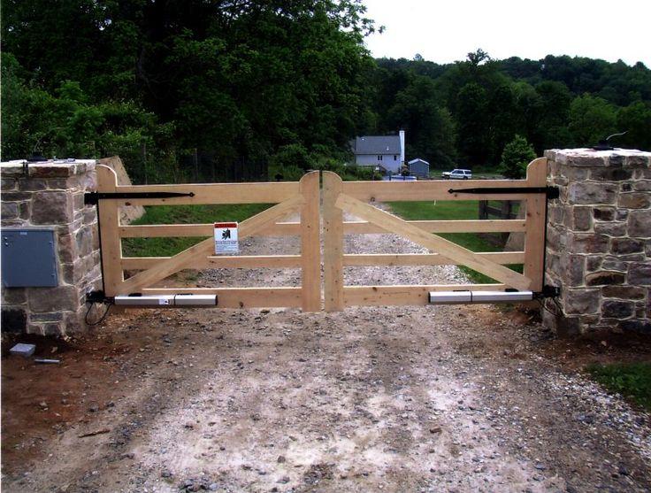 wood driveway estate gates - Google Search