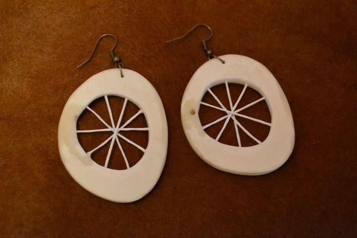 Native style earrings.