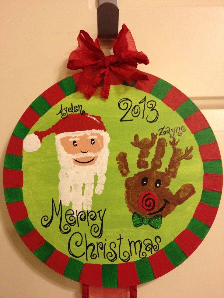 Art And Craft For Christmas Ideas Part - 21: Christmas Hand Print Craft