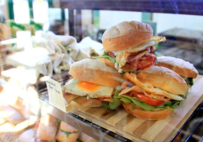 Pulled pork panini @ Footscray Milking Station  35 Bunbury Street   Footscray
