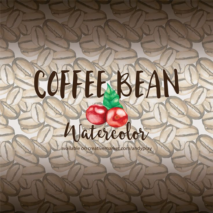 Available on creativemarket  visit link below  https://creativemarket.com/andypray/575560-Watercolor-Coffee-Bean