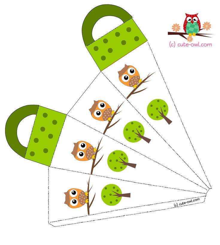 Free Printable Cute Owl Baby Shower and Birthday Party Favor Bags