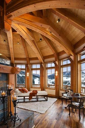 Gorgeous room, ceiling and awesome view