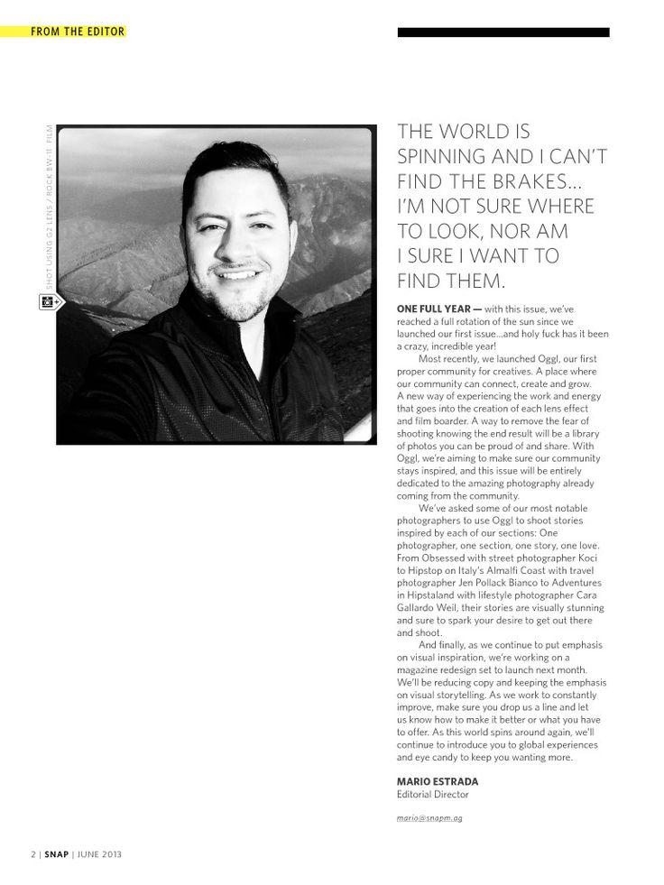 Editoru0027s Letter Anniversary Issue u2013 Snap