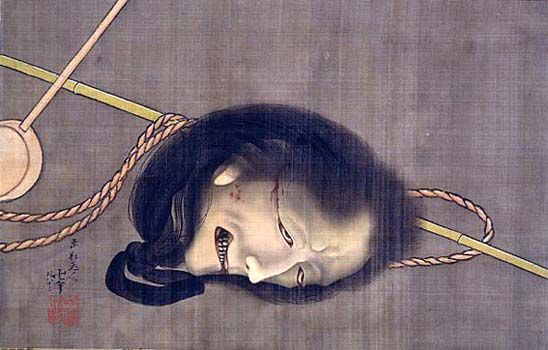葛飾北斎「生首の図」 Katsushika Hokusai
