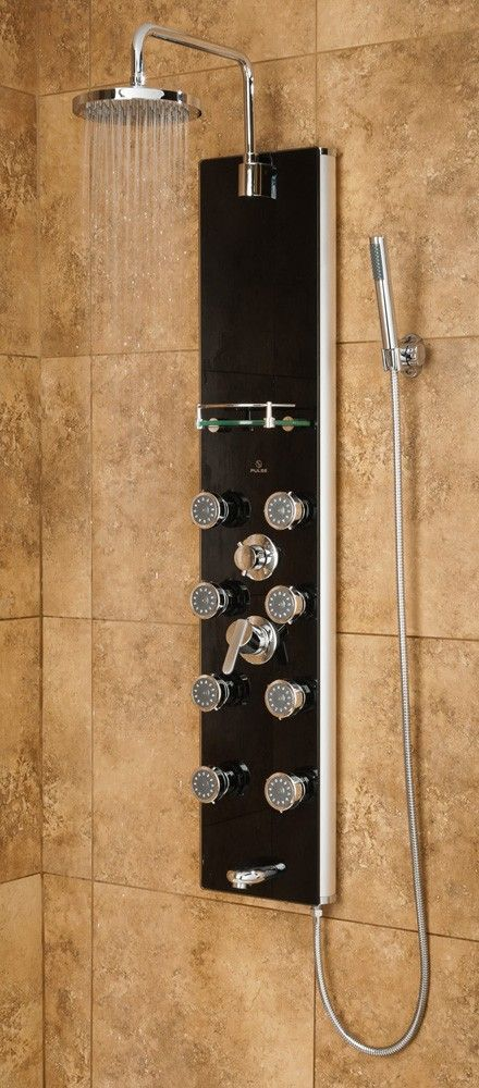 Pulse Makena II GPM Shower Panel With Rain Shower Head, Multi Function Hand  Shower And 8 Body Sprays