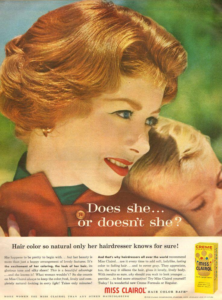 CLAIROL HAIR DYE Advertisement Vintage 1967